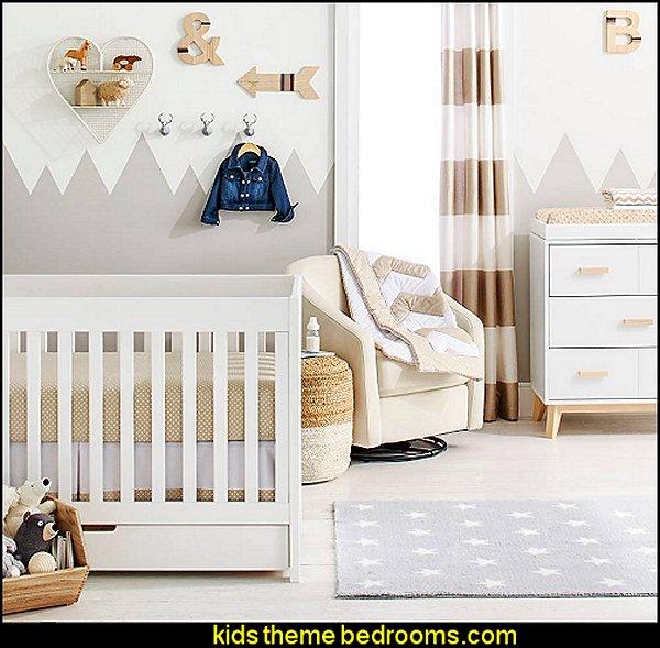 Zigs N' Zags Khaki Nursery Room