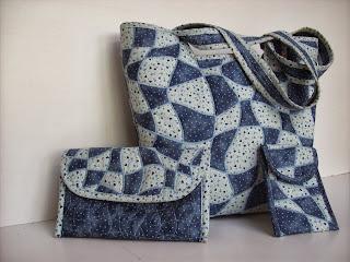 c63f2e2feb Kék hullámszövéses táska szett