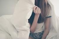 Bed blanket girl
