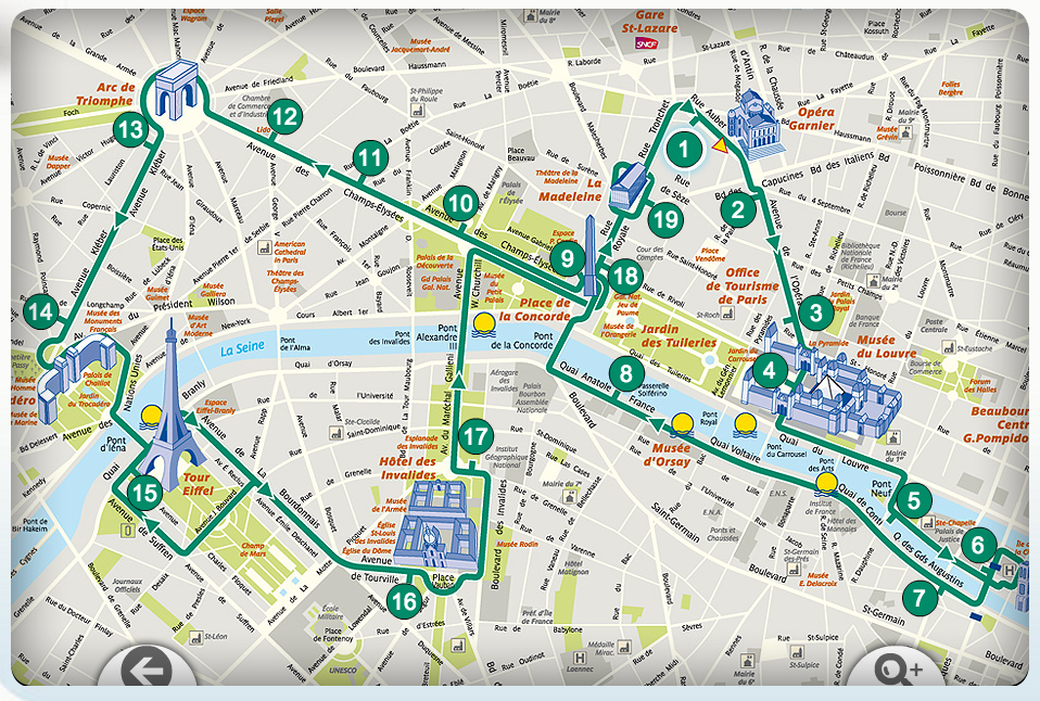 Lopen Tour Paris Map.L Open Tour Paris Erg