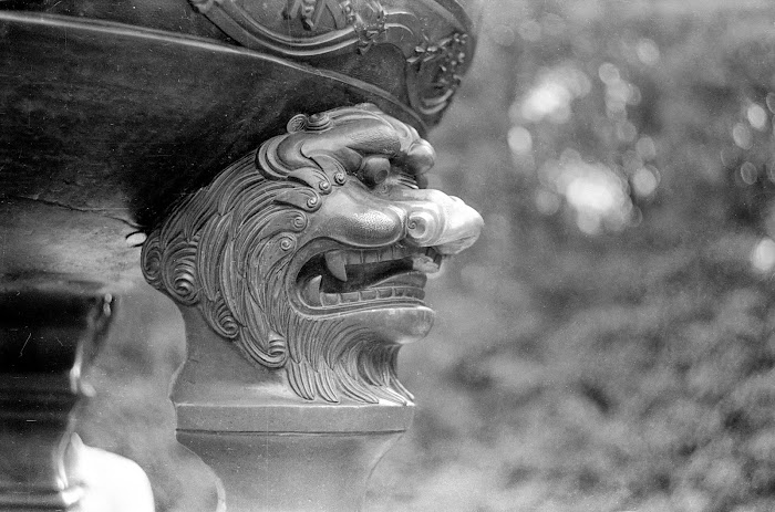 Nankin, Parc Mochou, dragon, © L. Gigout, 1990