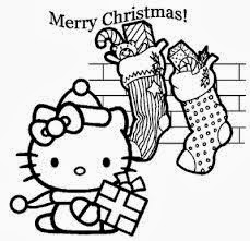 Christmas Hello Kitty Coloring Pages 3