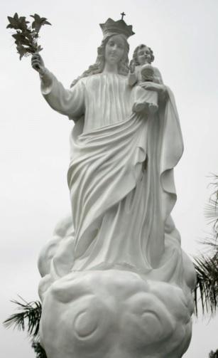Foto de la estatua de la Virgen de la Nube con el niño Jesús