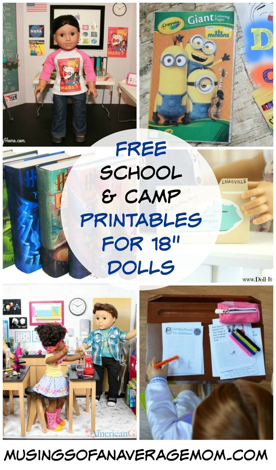 Musings Of An Average Mom Free School Camp And Vacation Printables For 18 Dolls
