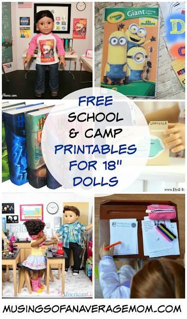 "Free school printable for 18"" dolls"