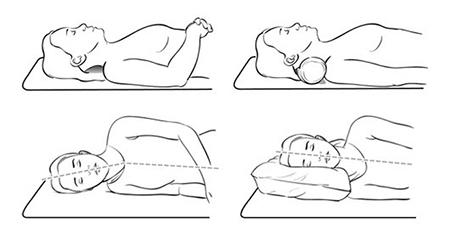 Dùng gối thấp khi ngủ giúp làm giảm mỡ mặt