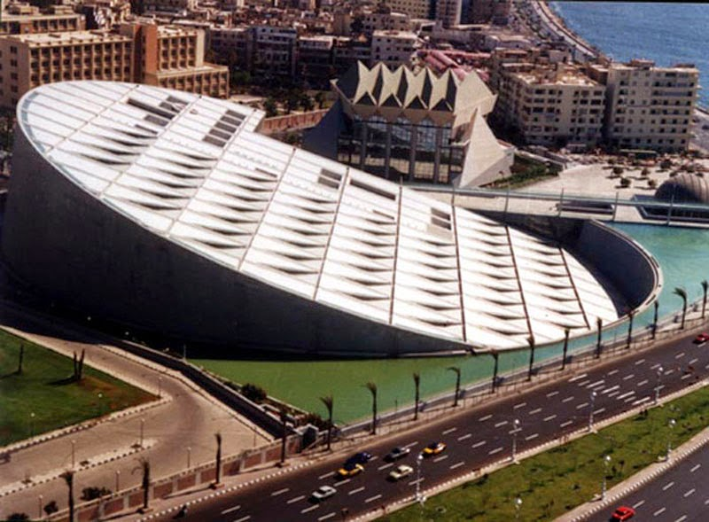 10. Bibliotheca Alexandrina (Alexandrina, Egypt) - Top 13 World's Strangest Buildings
