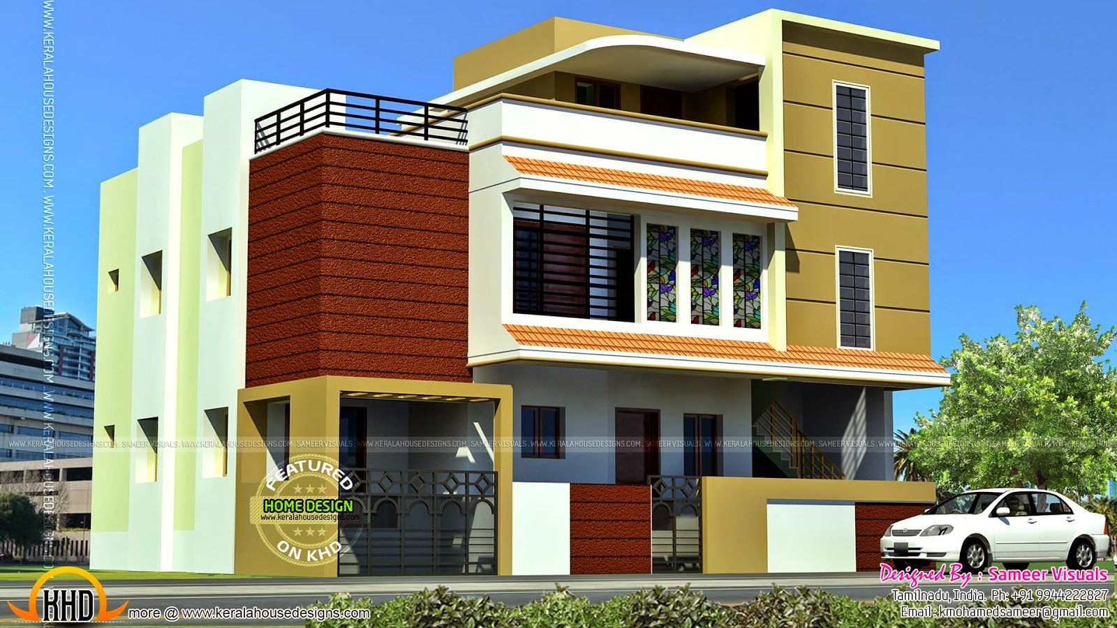 tamilnadu model house - Download Small Modern House Designs In Tamilnadu  PNG