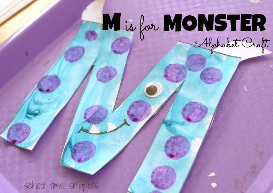 letter m preschool craft