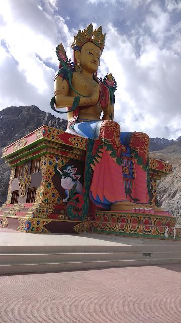Leh Ladakh Bike Trip, Diskit Monestry