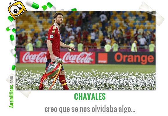 Chiste de la Eurocopa Xabi Alonso recoge la Copa