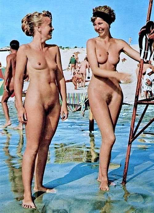 Necessary words... young vintage nudist pic