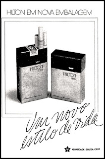 propaganda cigarros Hilton - 1978; cigarettes; 1978. propaganda cigarros anos 70.  propaganda anos 70; história decada de 70; reclame anos 70.  Brazil in the 70s; Oswaldo Hernandez;