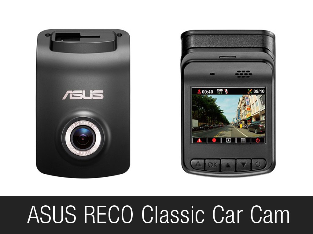 ASUS RECO Classic Car Cam Front and Back View