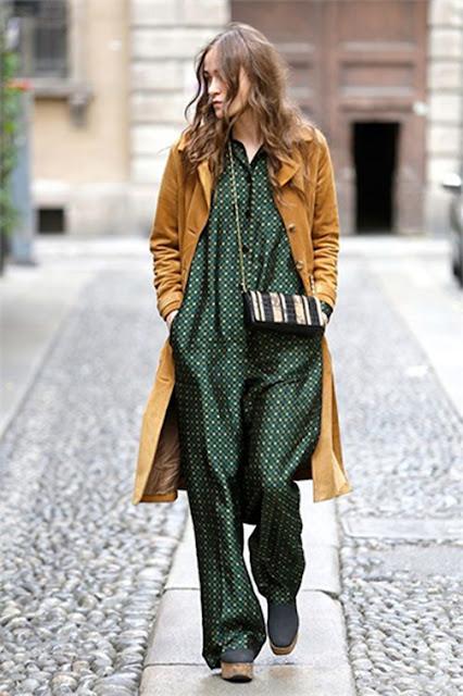 pajama trend, slip dress, spring 2016 trends, jumpsuit, camel coat