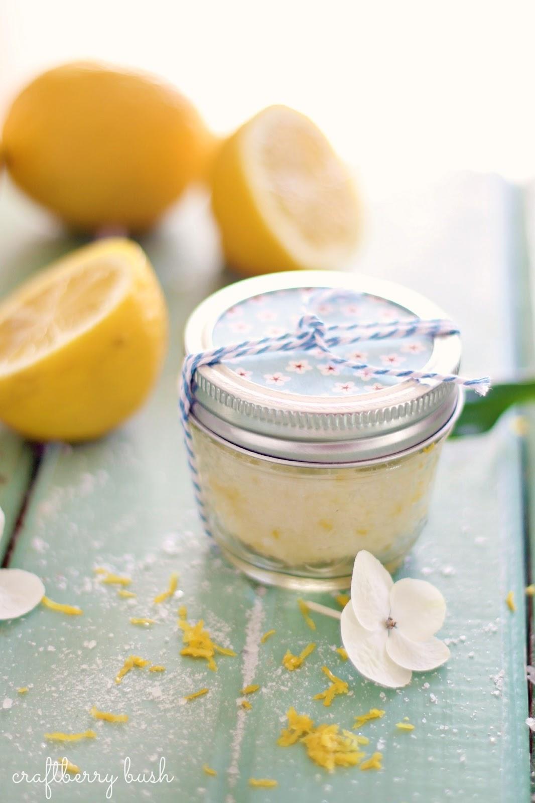 Super Easy Sugar Lemon Scrub Recipe
