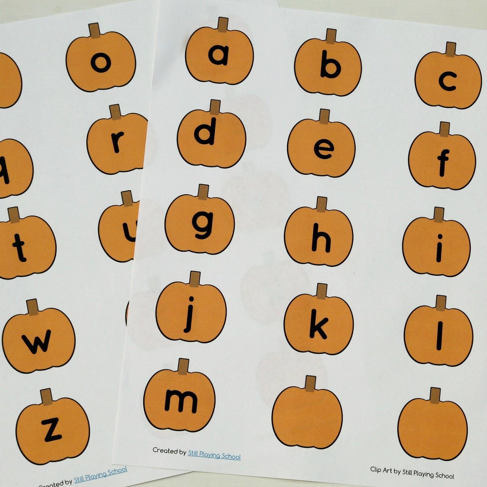 Pumpkin Name Spelling Activity Still Playing School