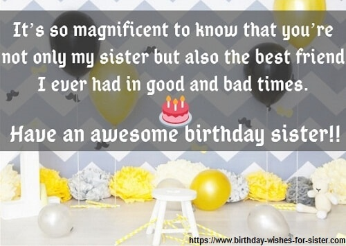 Happy Birthday Wishes For Sister Image