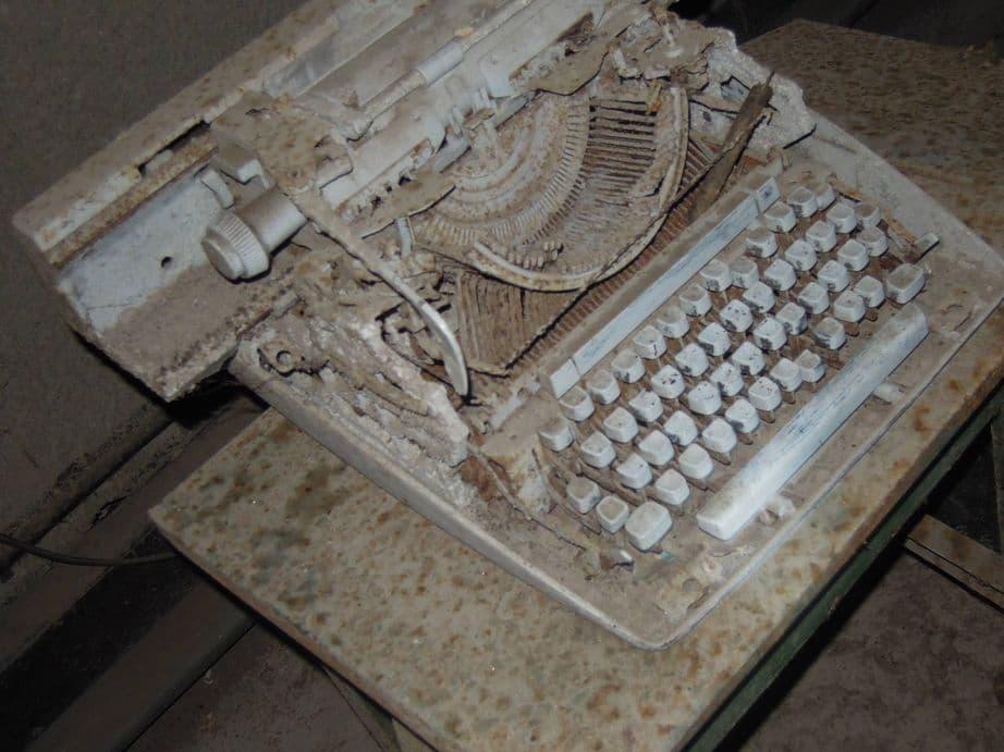 An old typewriter inside Malinta Tunnel at Corregidor Island
