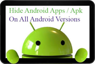 Hide apps apk on android