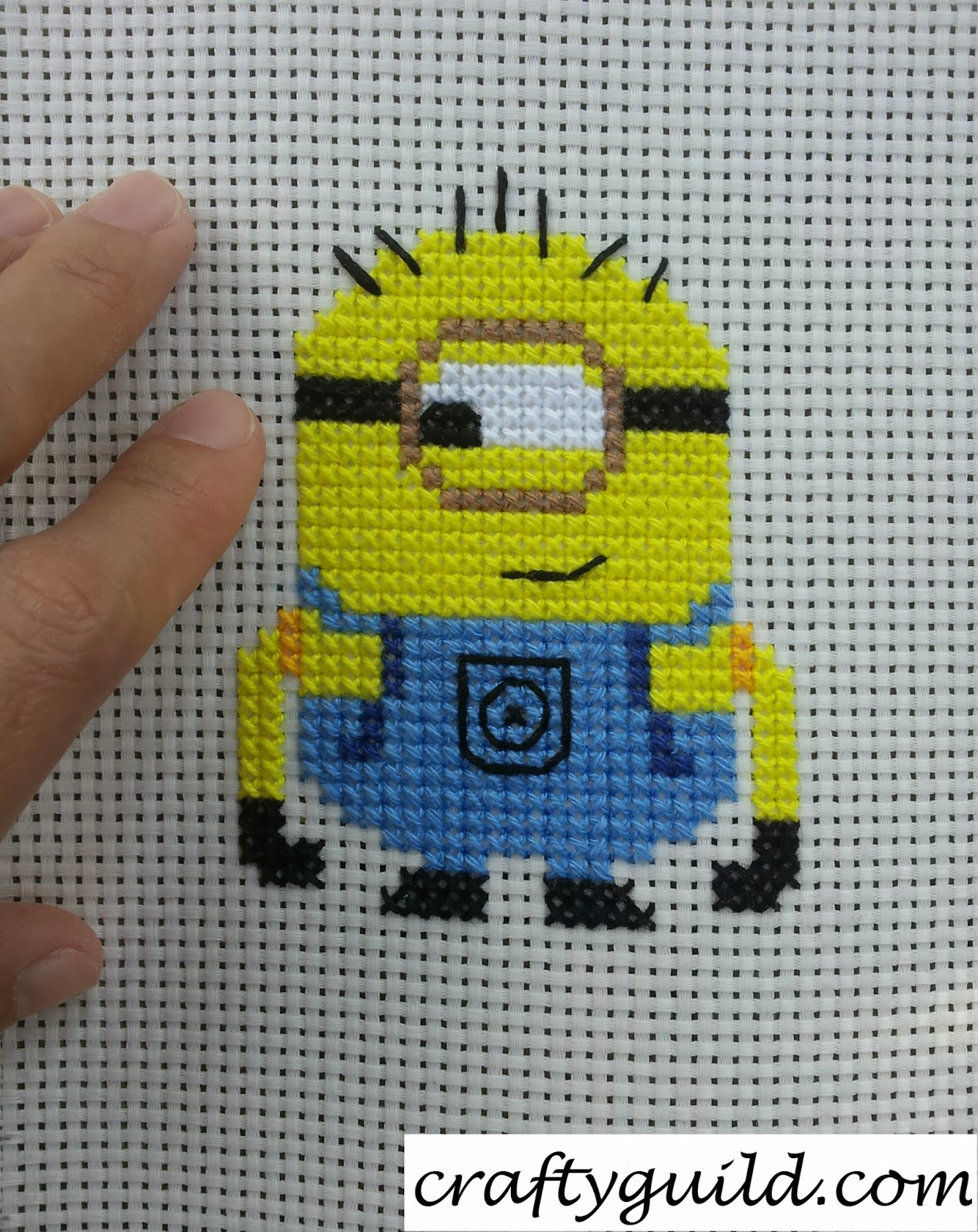 Carl the Minion Free Cross Stitch Pattern