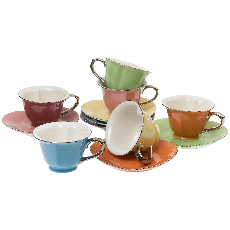 everything i heart: heart tea cups & saucers