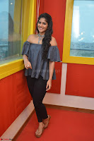 Mega Akash in a sleeveless Off Shoulder Cute Dress Stunnign beauty at Radio Mirchi Promoting Movie LIE ~ Celebrities Galleries 057.JPG