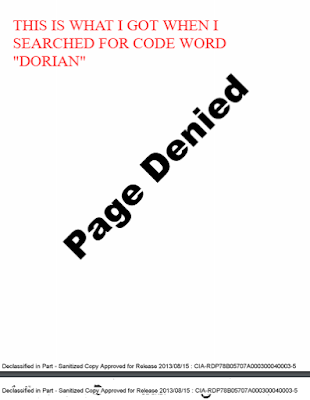 DORIAN. This is what I got when I searched for project Dorian connected to Project Oxcart.