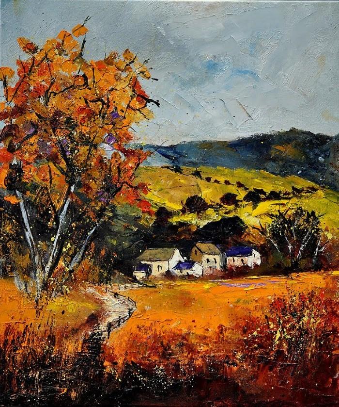 Pol Ledent. Современный художник-самоучка. Пейзажи и цветы 13
