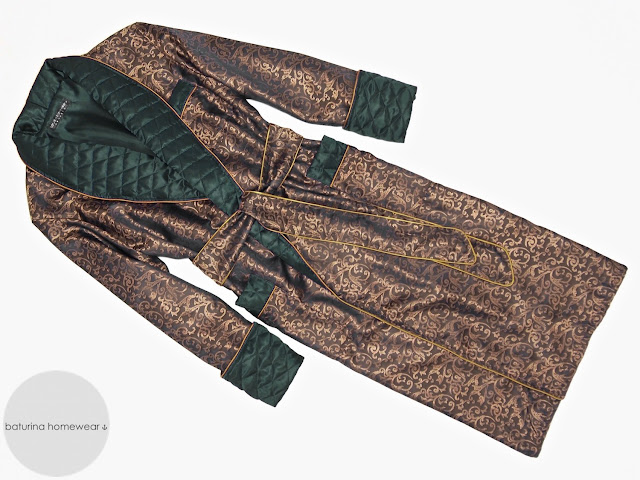 mens green silk dressing gown gold paisley smoking jacket robe quilted lined long