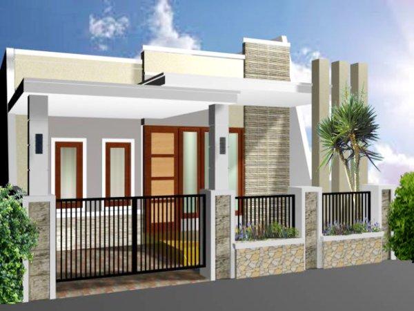 Konsep Desain Pagar Rumah Minimalis Type 45