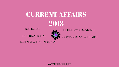 Current Affairs September-2018