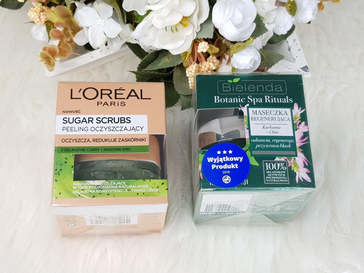 Nowości maj 2018 | LOreal Sugar Scrubs, maska Bielenda Botanic Spa Rituals