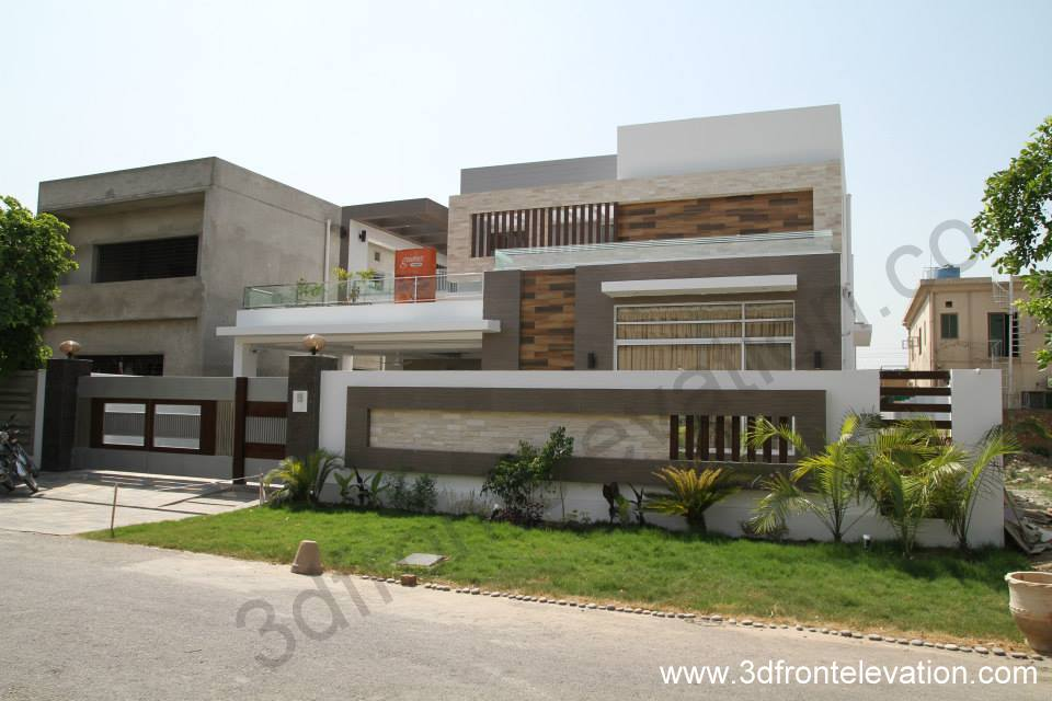 3d front 1 kanal house for sale in bahria for Modern design houses for sale