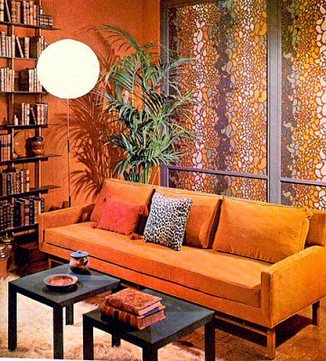 Salas Con Paredes Color Naranja Salas Con Estilo