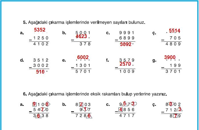 4sınıf Matematik Dikey Yayınları çalışma Kitabı 46sayfa Cevapları