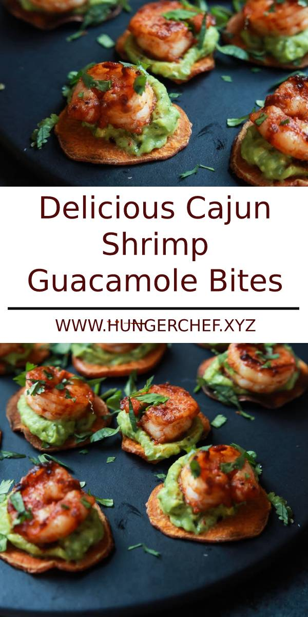 Cajun Shrimp Guacamole Bites, the perfect appetizer for your next game day party! #appetizers #appetizersrecipe #bites #shrimp