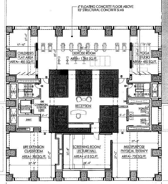 Floor plan showing lobby floor