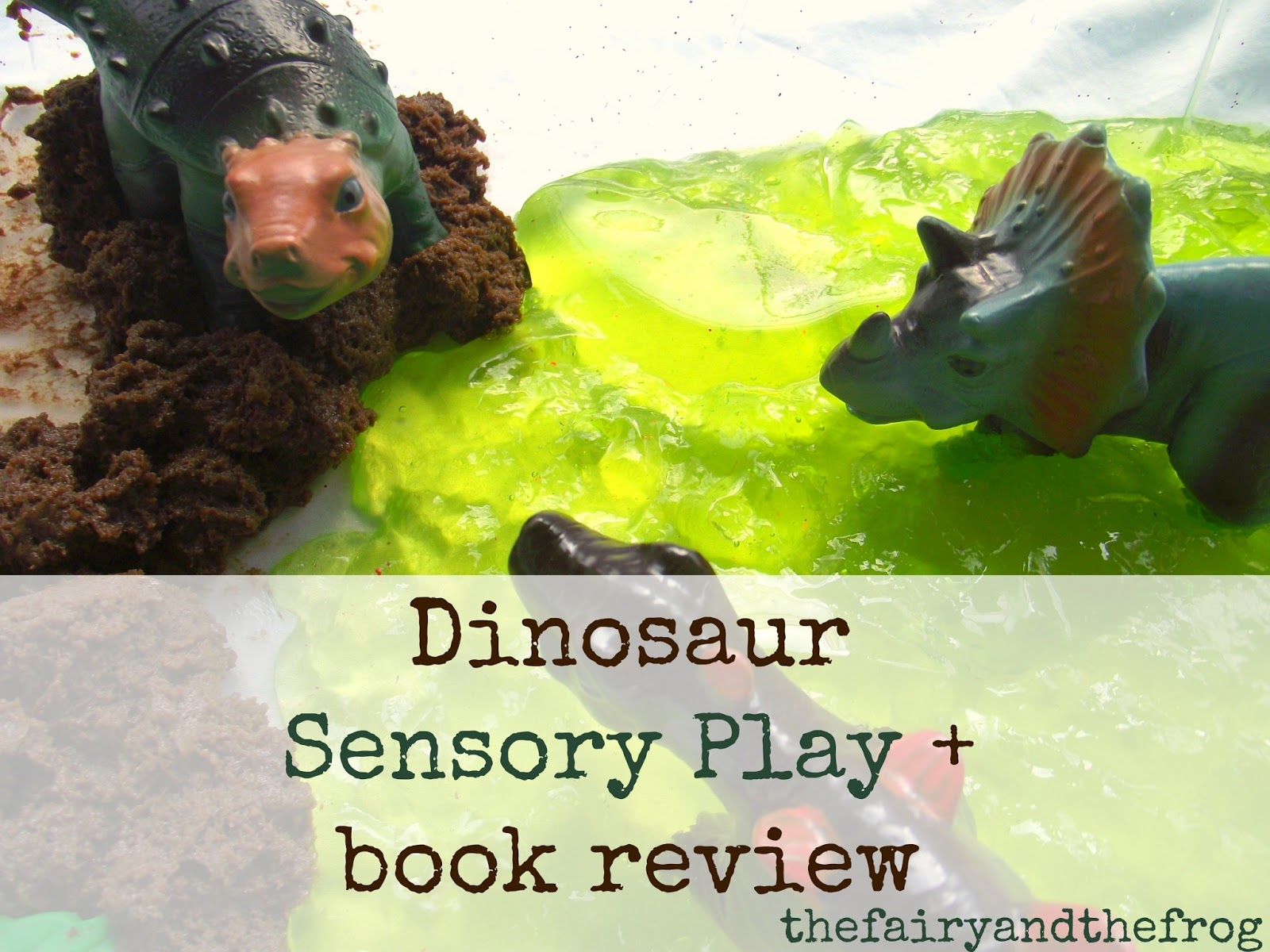 the fairy and the frog dinosaur sensory play and book review. Black Bedroom Furniture Sets. Home Design Ideas