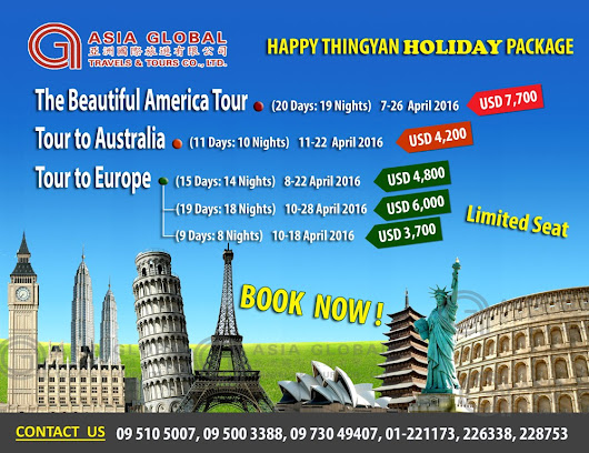 HAPPY THINGYAN HOLIDAY PACKAGE
