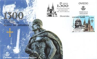 Sobre PDC del sello del 1300 aniversario del Reino de Asturias