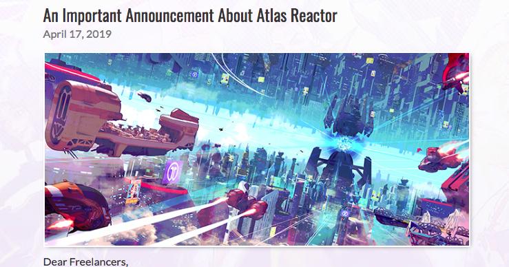 Atlas Reactor To Be Shuttered on June 28, 2019 | Lord Murasama •