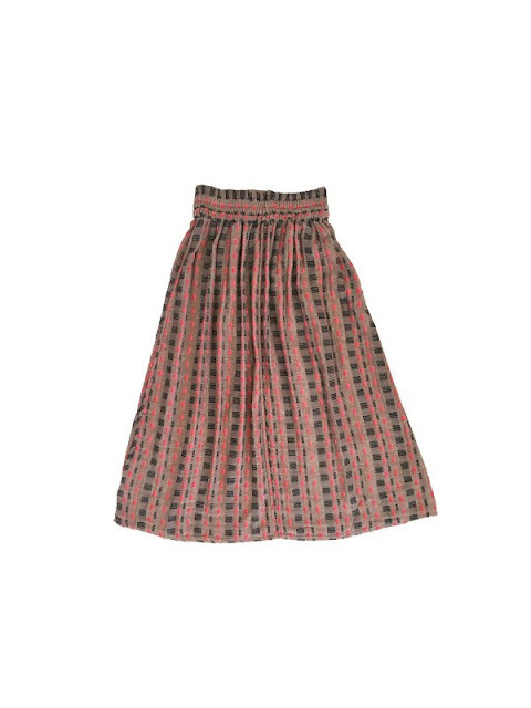 Ace & Jig Ra Ra Midi Skirt in Twine/Filigree