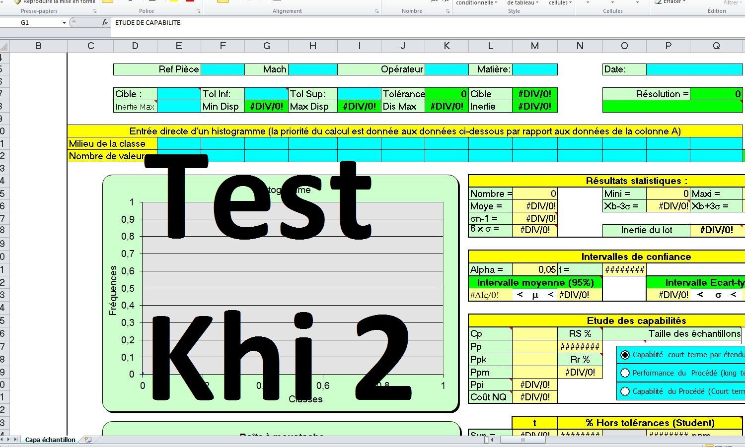 Exemple de test khi2 excel 4 fichiers cours des for Table khi carre