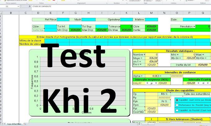 Exemple de Test khi2 excel - 4 fichiers
