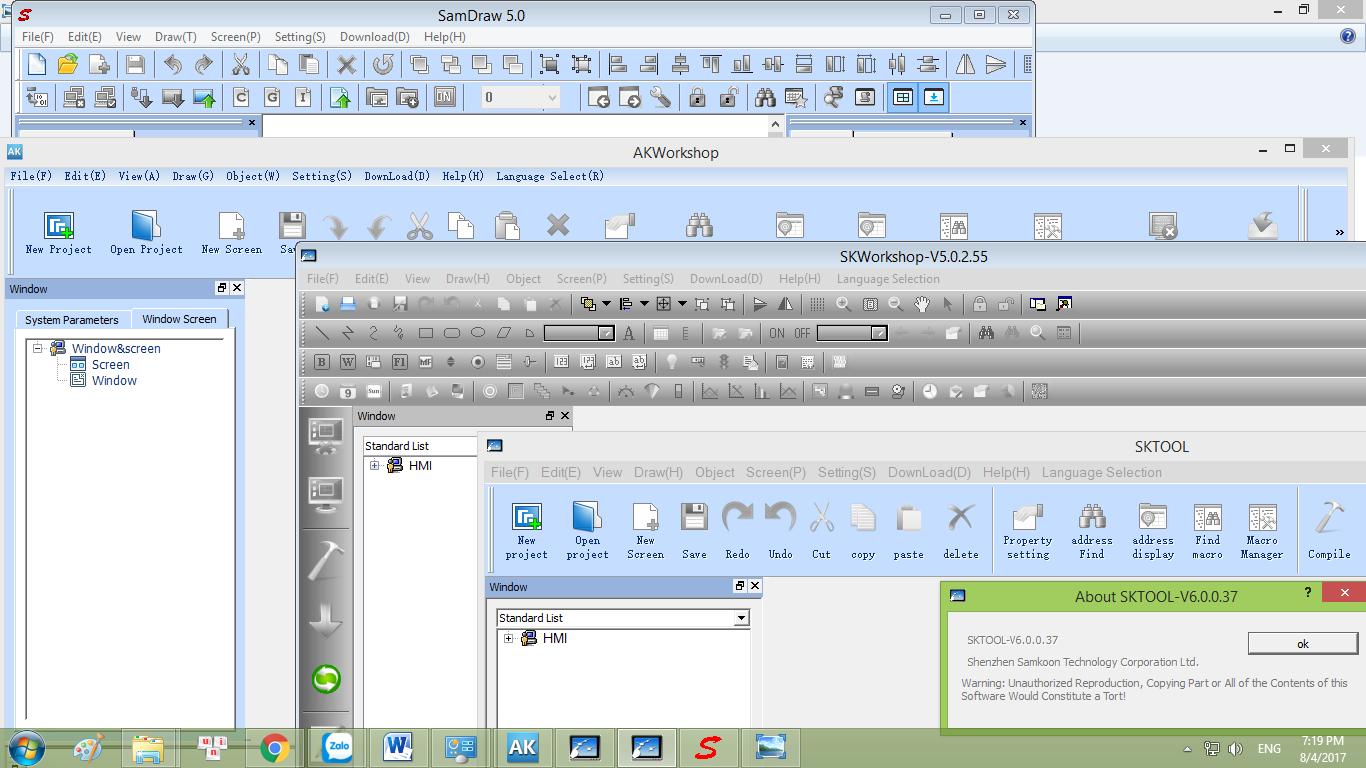 Tổng hợp link download tải phần mềm lập trình thiết kế giao diện màn hình cảm ứng HMI Samkoon