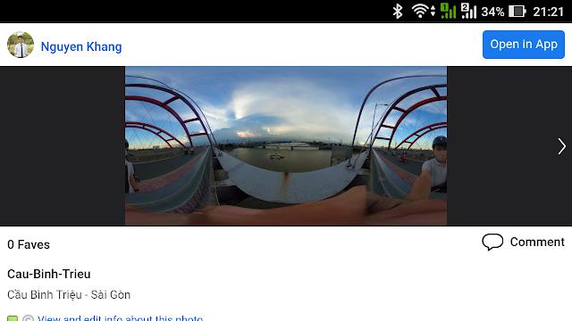Cách đăng ảnh 360 độ lên Flickr