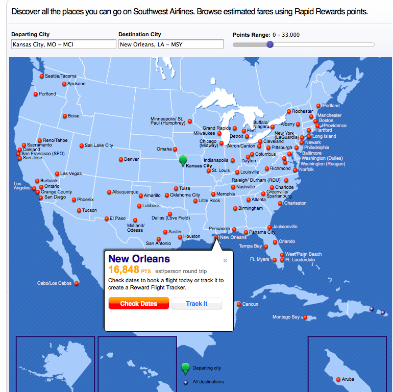 Southwest Flight Search