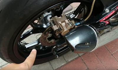 Modifikasi Motor, Suzuki Satria FU Modifikasi, Suzuki Satria FU, Disc Brake, Disc Brake Custom