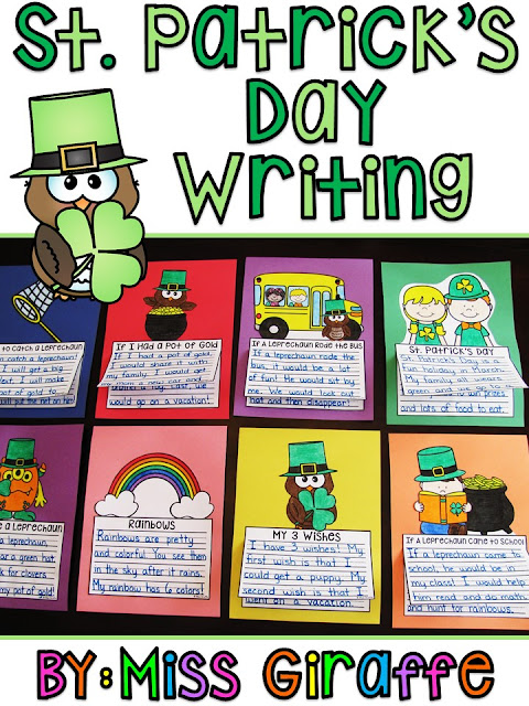 St. Patrick's Day writing activities that are no prep, easy, and fun - click to see examples to get a ton of writing ideas for March!